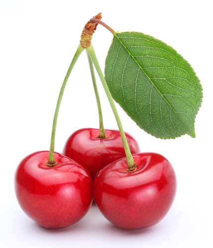 A small grouping of cherries