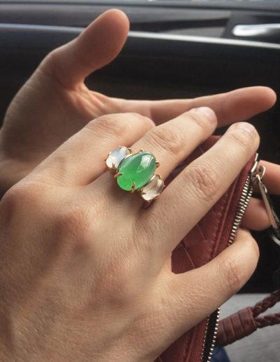 Custom designed talisman  ring by Cynthia Renee