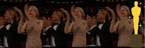 Nicole Kidman clapping at the Academy Awards - Jewelry Care