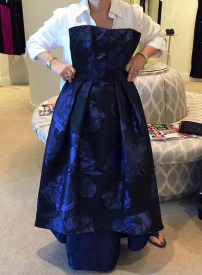 Mother of the Bride Midnight Blue Silk Taffeta Dress