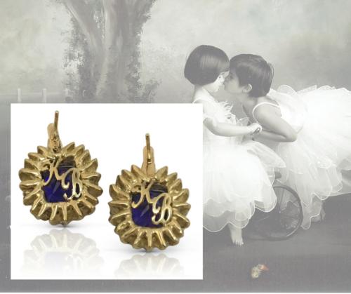 Blue Tanzanite Gold Earrings Custom Jewelry Design