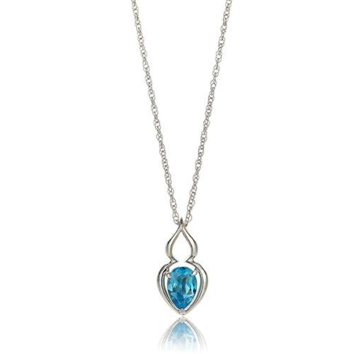 """Pantea"" Blue Topaz Pendant"