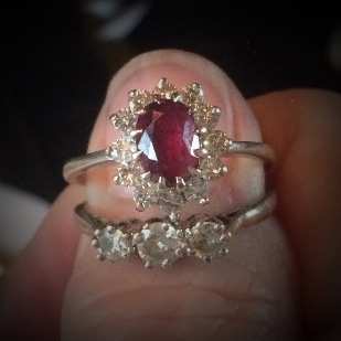 Cynthia Renee BYOJ Ruby Gold Ring Before Design
