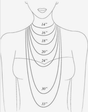 Mother of the Bride Custom Jewelry Design Necklace Length Guide