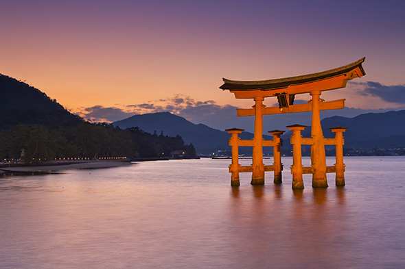 Japan Torii Gate at sunset inspiration for necklace