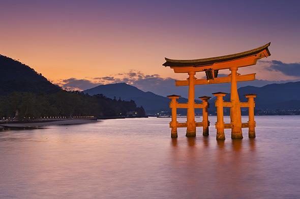 Japan Torii Gate at sunset inspiration for necklace