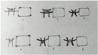 Torii Gate Necklace inspiration sketch