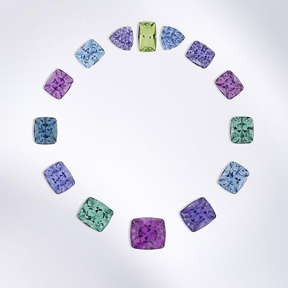 Torii Gate necklace cuprian tourmaline custom jewelry design