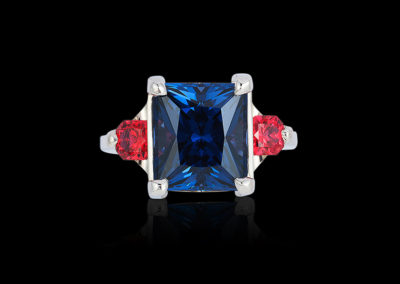 Blue and Red Spinel