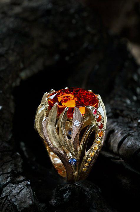 custom ring cynthia renee custom jewelry garnet diamonds gold