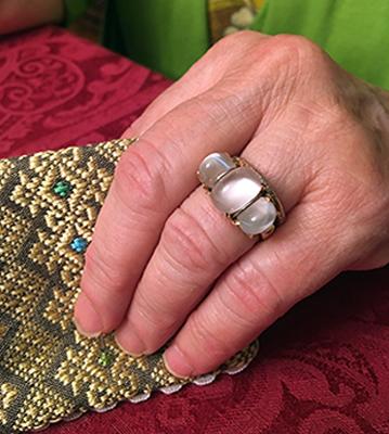 Custom designed ring by Cynthia Renee