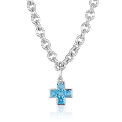 Five-Stone-Cross-Blue-Topaz-Necklace