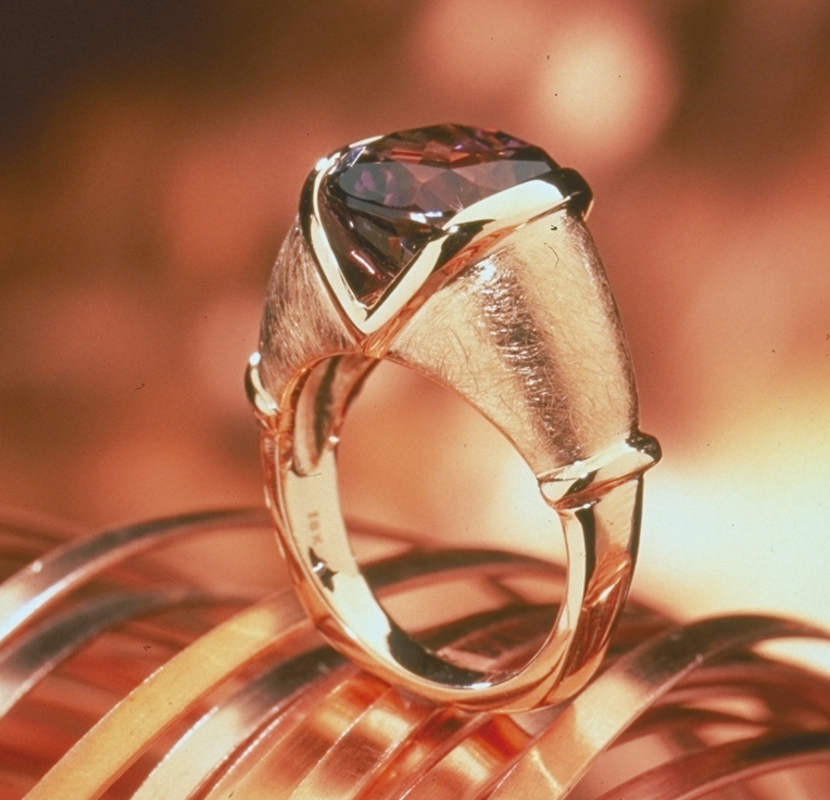 Cynthia Renee La Pietra Ring inspired by the mountain chains and molten rocks in San Diego