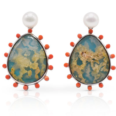 """Phoenix Earring Featuring """"Coral Sea Turquoise"""""""