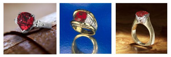 Spinel, Ruby and Sapphire rings