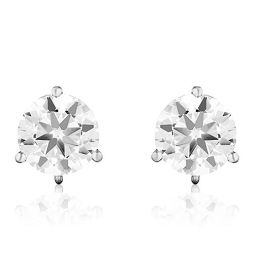 Stud Foundation Earring with 8.0 mm Cubic Zirconia