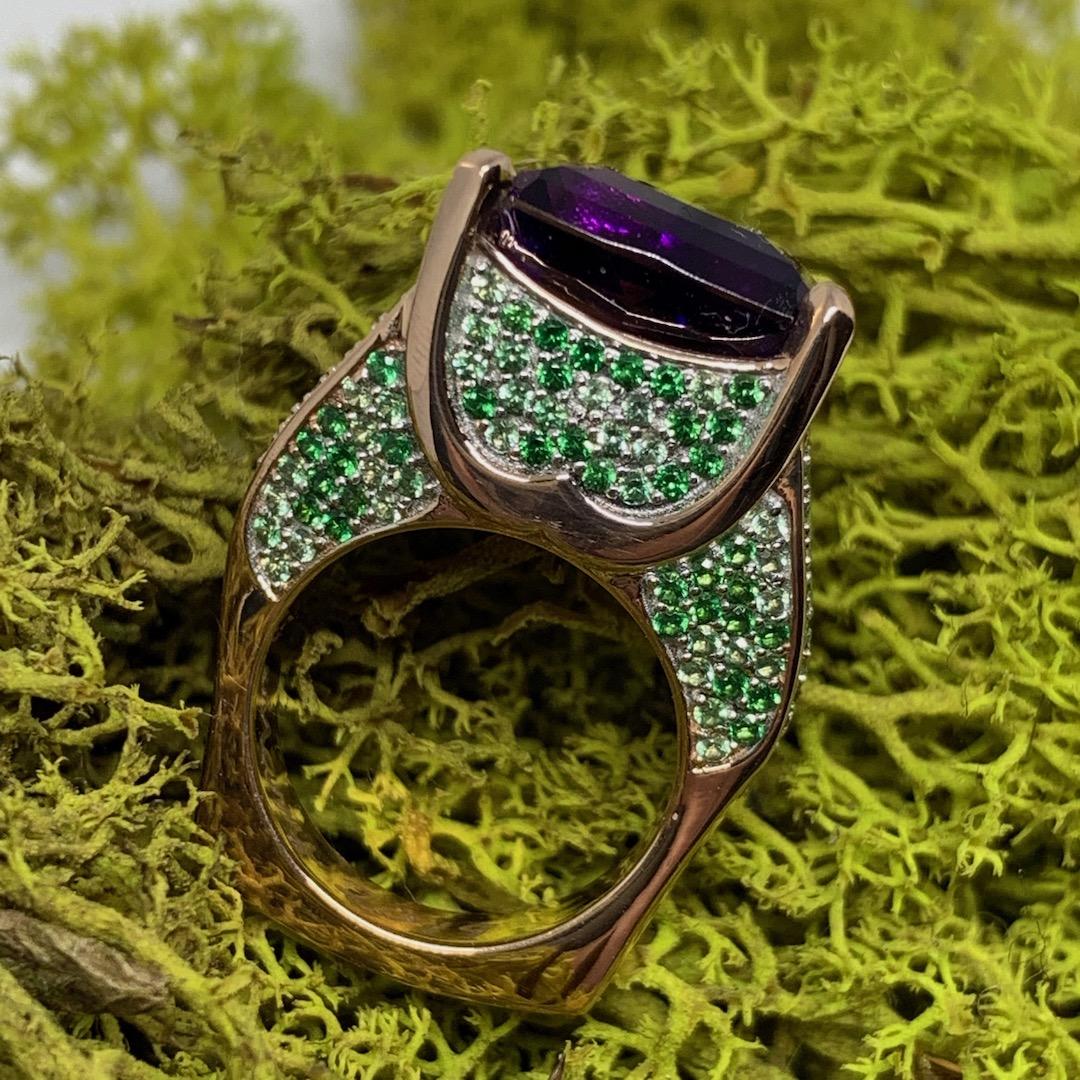 Full customized Amethyst ring