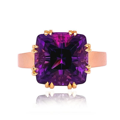 Trellis Ring, Small, featuring Amethyst