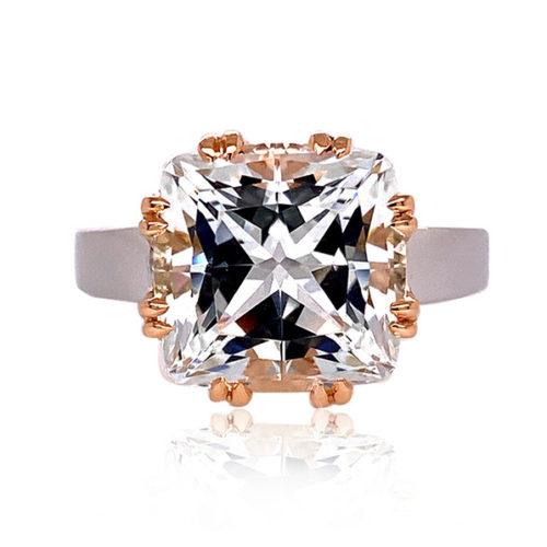 Trellis Ring, Small, featuring White Beryl