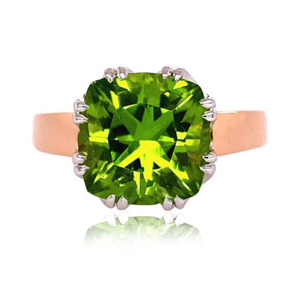 Trellis Ring, Small, featuring Peridot