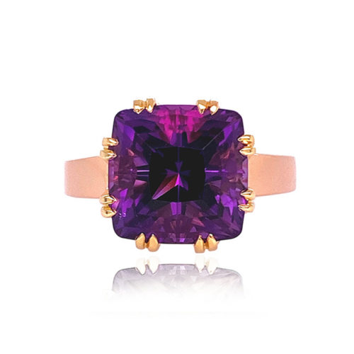 Trellis Ring, Small, featuring Amethyst