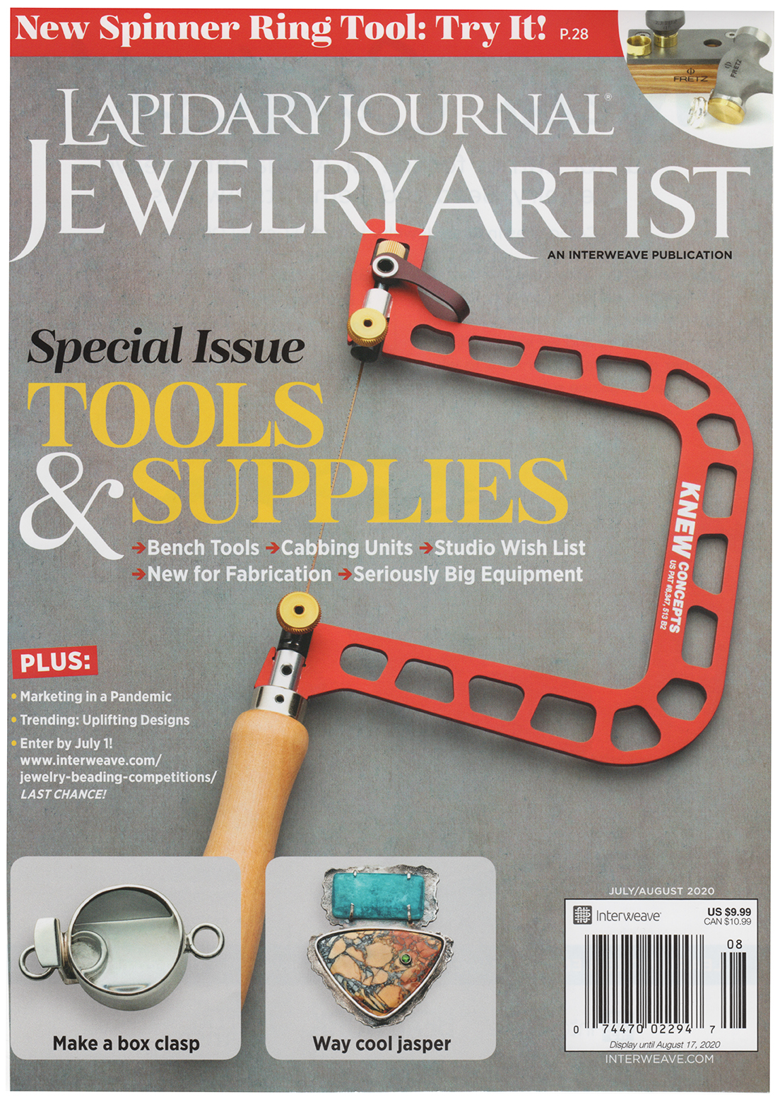 """Power of Presence: Imbued with memories and emotions, jewelry is marker of human experience."" In this Lapidary Journal, July/August2020 article, author Deborah Yonick tells how jewelry artists are telling the human experience of COVID."