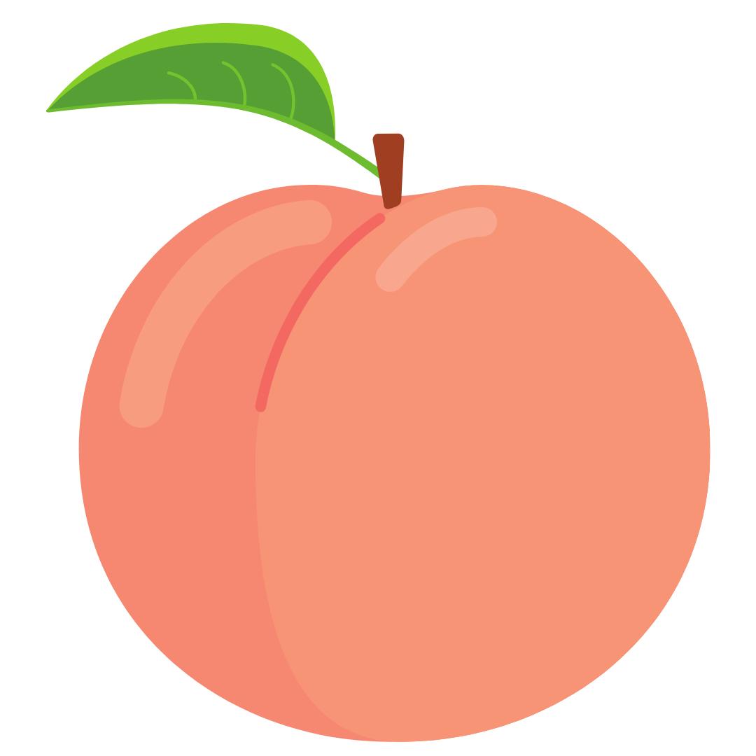 peach - graphic