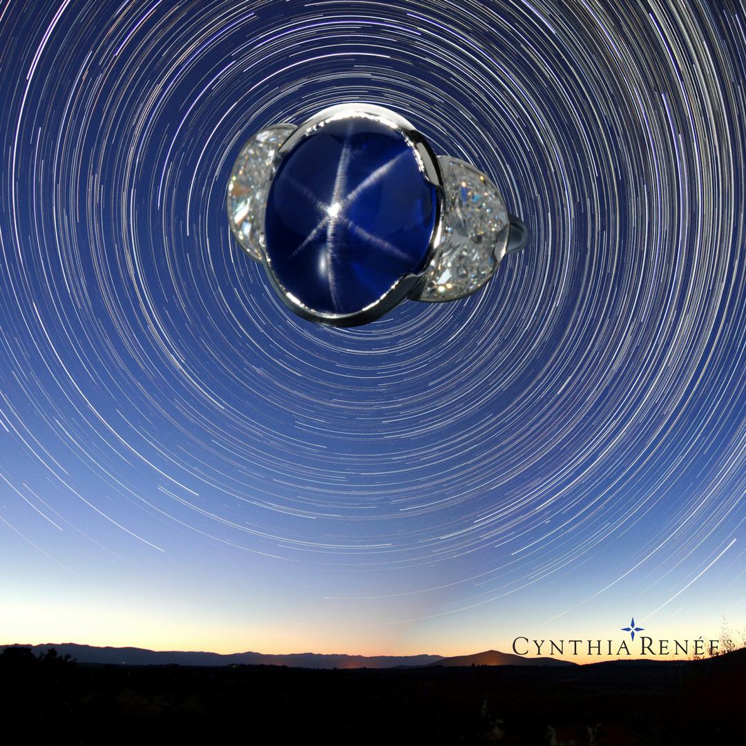 """""""Blue Star"""" Custom designed ring"""