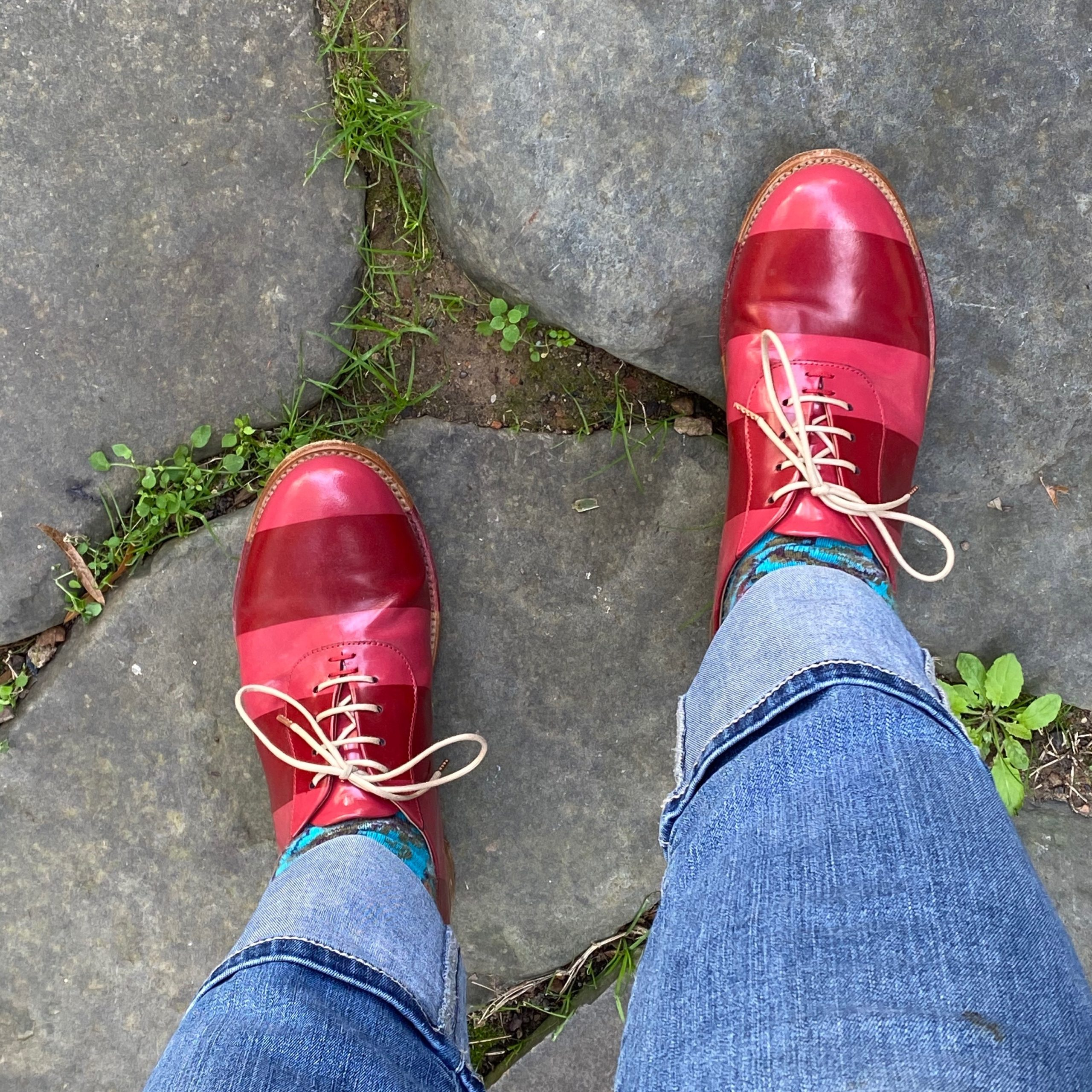 """Cynthia's """"happy"""" red shoes"""