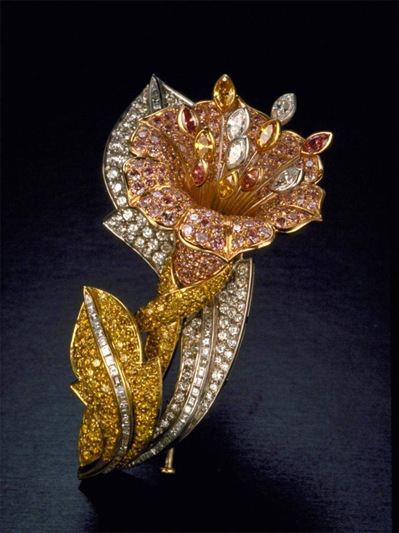 Diamond Lily Brooch