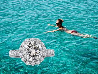 """White Wedding"" - awarded jewelry designer Cynthia Renée's full custom designed ring."