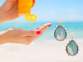 "Cynthia Renée's Phoenix Earring Featuring ""Coral Sea Turquoise"""