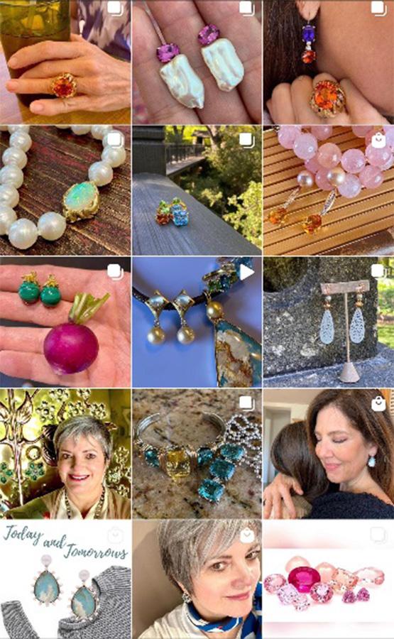 Jewelry designer Cynthia Renée's Instagram page.